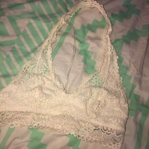 Off White lace halter bralette